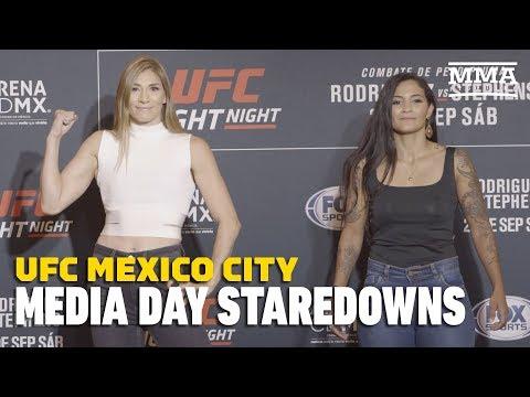 UFC Mexico City Media Day Staredowns - MMA Fighting
