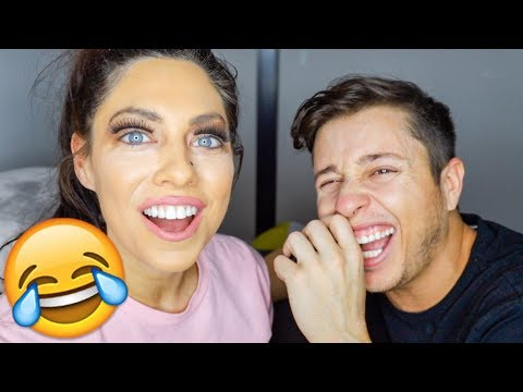 BOYFRIEND DOES GIRLFRIENDS MAKEUP!! (BEST TUTORIAL VIDEO)