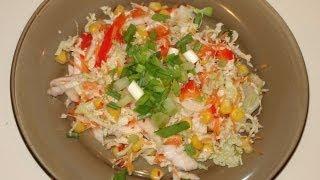 Салат из пекинской капусты с кунжутом.