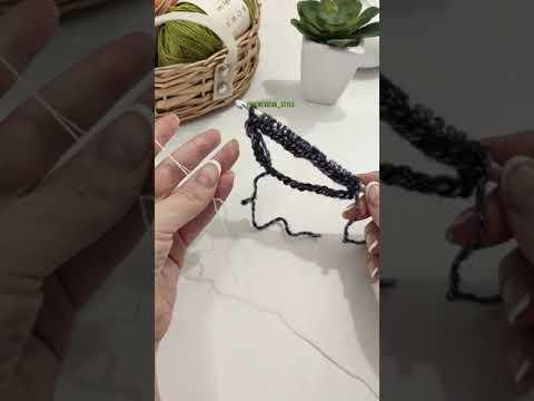 Тунисское вязание от 2-х клубков. Лайфхак