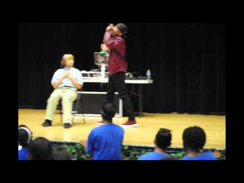 Jacob Latimore at Pershing West Middle School
