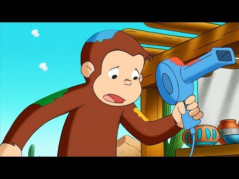 Curious George 🐵 George Paints The Desert 🐵 Kids Cartoon 🐵 Kids Movies 🐵 Videos For Kids