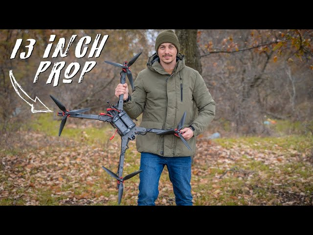 Flying a MONSTER 13 INCH 12S FPV Drone! (X-Class TBS Source X)
