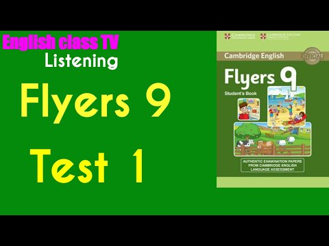 Flyers 9 Test 1   English Listening Practice   Luyện Thi Cambrige   English class TV