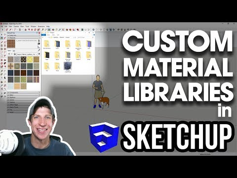 Creating CUSTOM MATERIAL LIBRARIES in SketchUp - YouTube