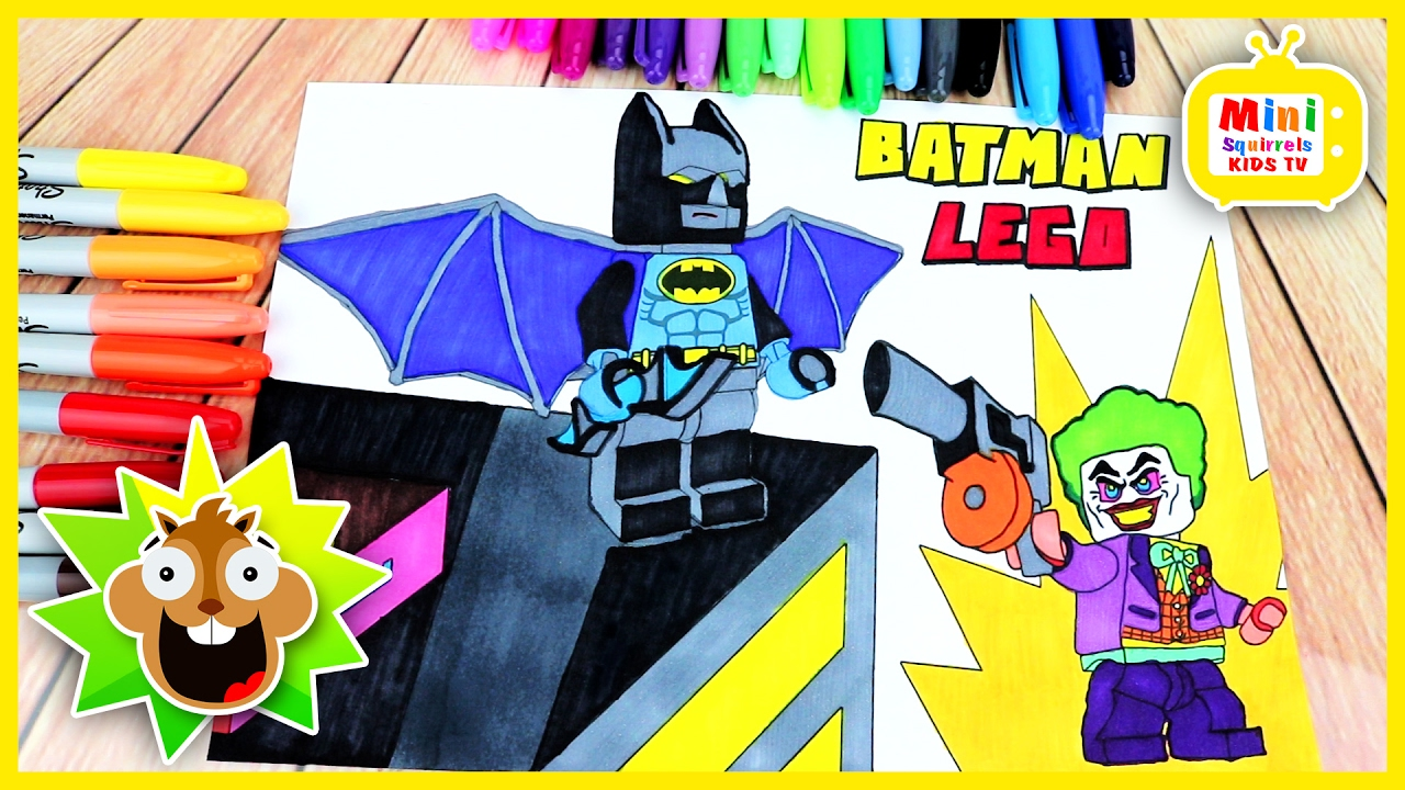The Lego Batman Movie Coloring Book Learn Colors For Kids Fun Video Children