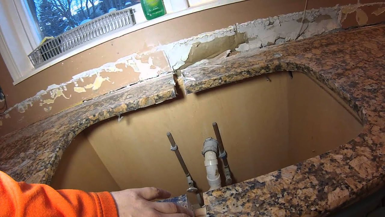 Granite Sink Day 2 - Removing Old Kitchen - Youtube