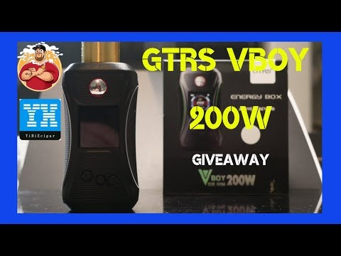 GTRS V-Boy 200w Box Mod Review & Giveaway | Yihi SX500 Chip