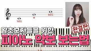 [피아노 독학/기초] 10분이면 끝! 피아노 악보 보는…