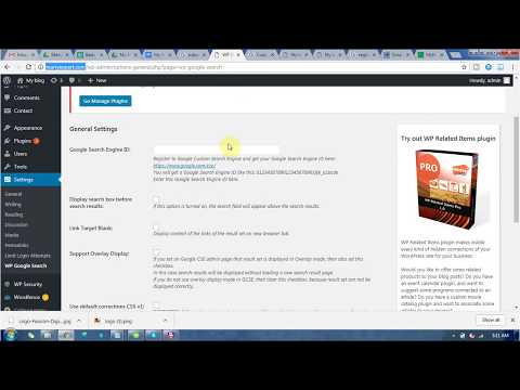 How to add google custom search in wordpress website ? - YouTube