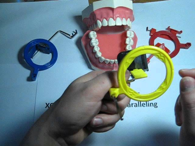 How to use a Posterior (yellow) XCP dental film / PSP holder for Dental Xrays