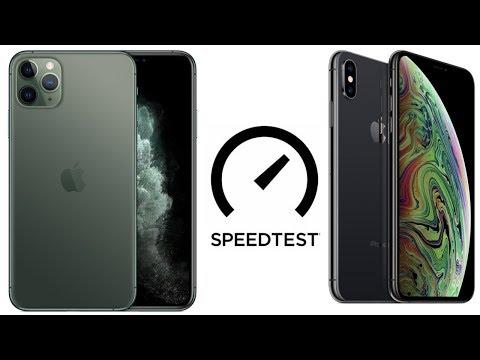IPhone 11 Pro Max Vs IPhone XS Max Speedtest (4K)