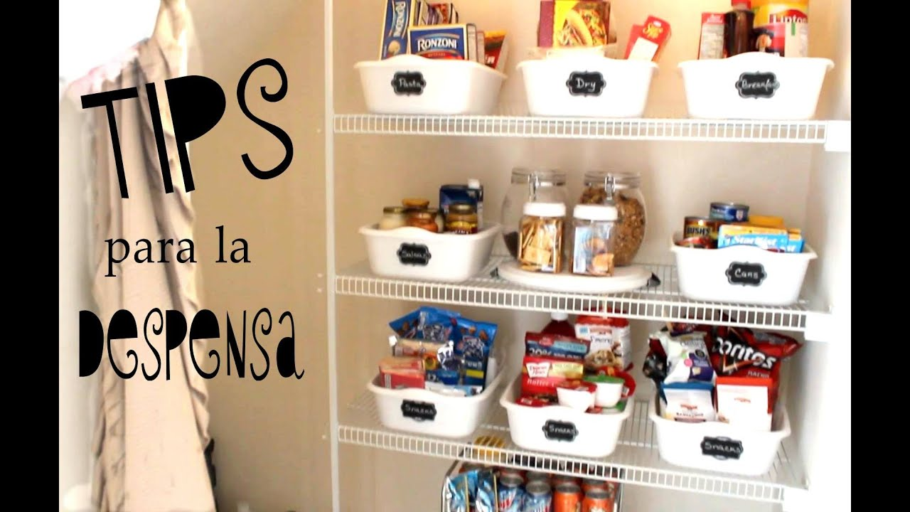 Ideas para organizar tu despensa i pantry organization for Como decorar una cocina
