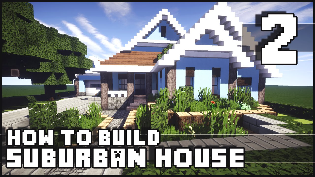 Minecraft how to build suburban house part 2 youtube for Modern house 6 part 2