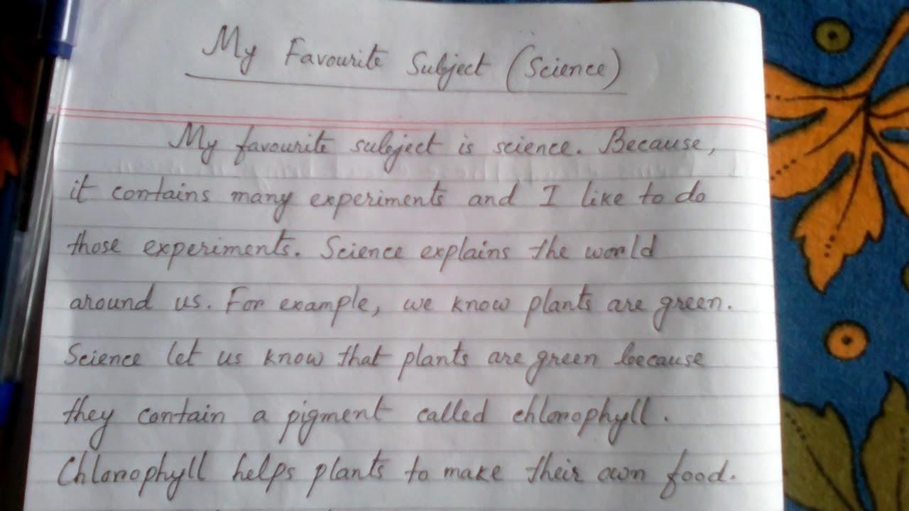 Essay: My Favourite Subject (Science)