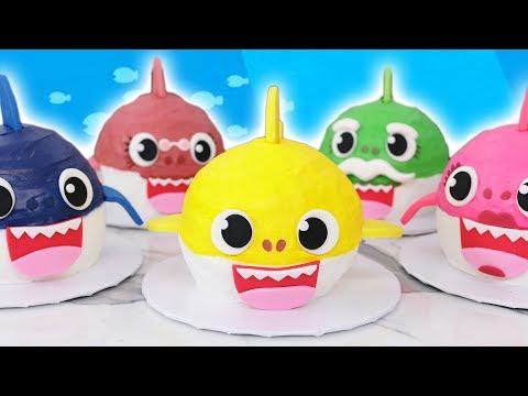 Baby Shark Cakes! - NERDY NUMMIES