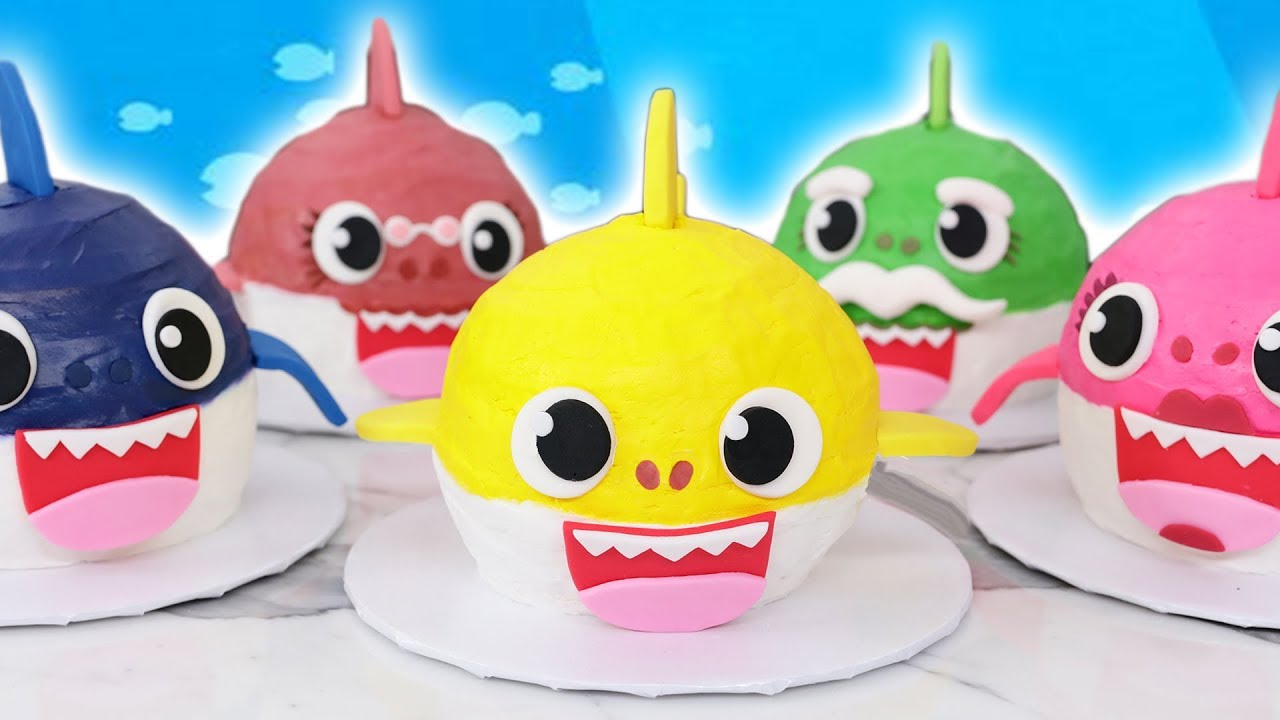 Baby Shark Cakes Nerdy Nummies Youtube
