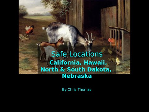 Safe Locations for California, Hawaii, North & South Dakota and Nebraska.