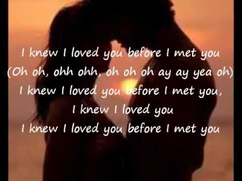 Savage Garden-I Knew I Loved You lyrics