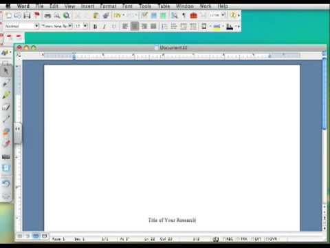Research Paper Title Page - Youtube