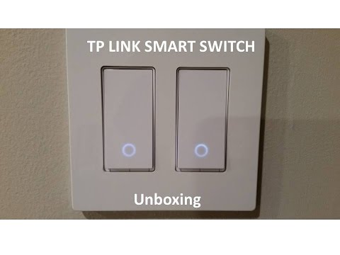 Unboxing of TP-Link Smart Wi-Fi Light Switch, works with Amazon Alexa