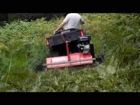 Mowing Field With Atv Amp Rough Cut Mower Funnydog Tv