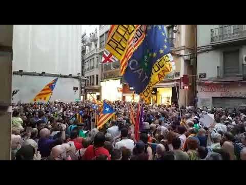 Manifestació a favor de l'1-O a Lleida