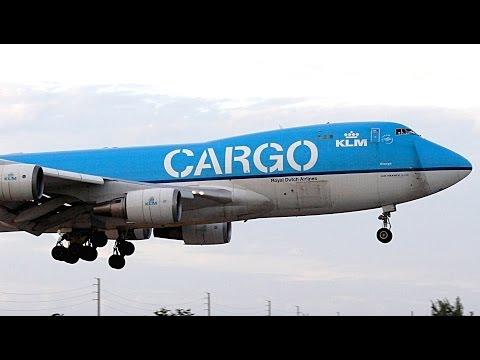 {TrueSound}™ BEAUTIFUL Martinair / KLM Cargo Boeing 747-400 Landing + Takeoff at Miami 10/25/15
