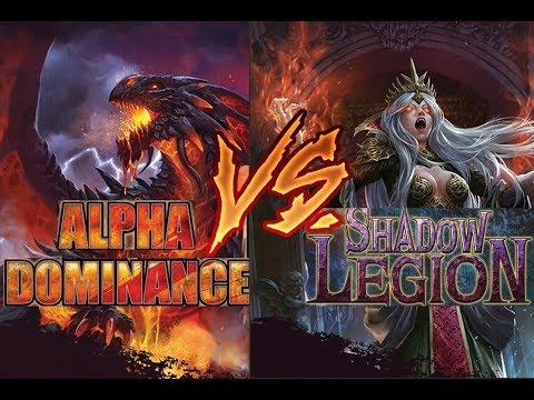 Alpha Dominance VS Shadow Legion - Dragoborne TD Battle
