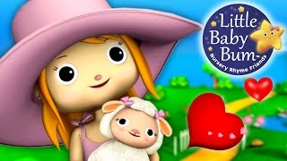 Mary Had A Little Lamb Nursery Rhyme with lyrics | 3D Animation from LittleBabyBum!