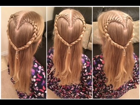 Cute Valentines Braided Heart Hairstyle