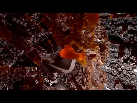 Flight through Mandelbox fractal