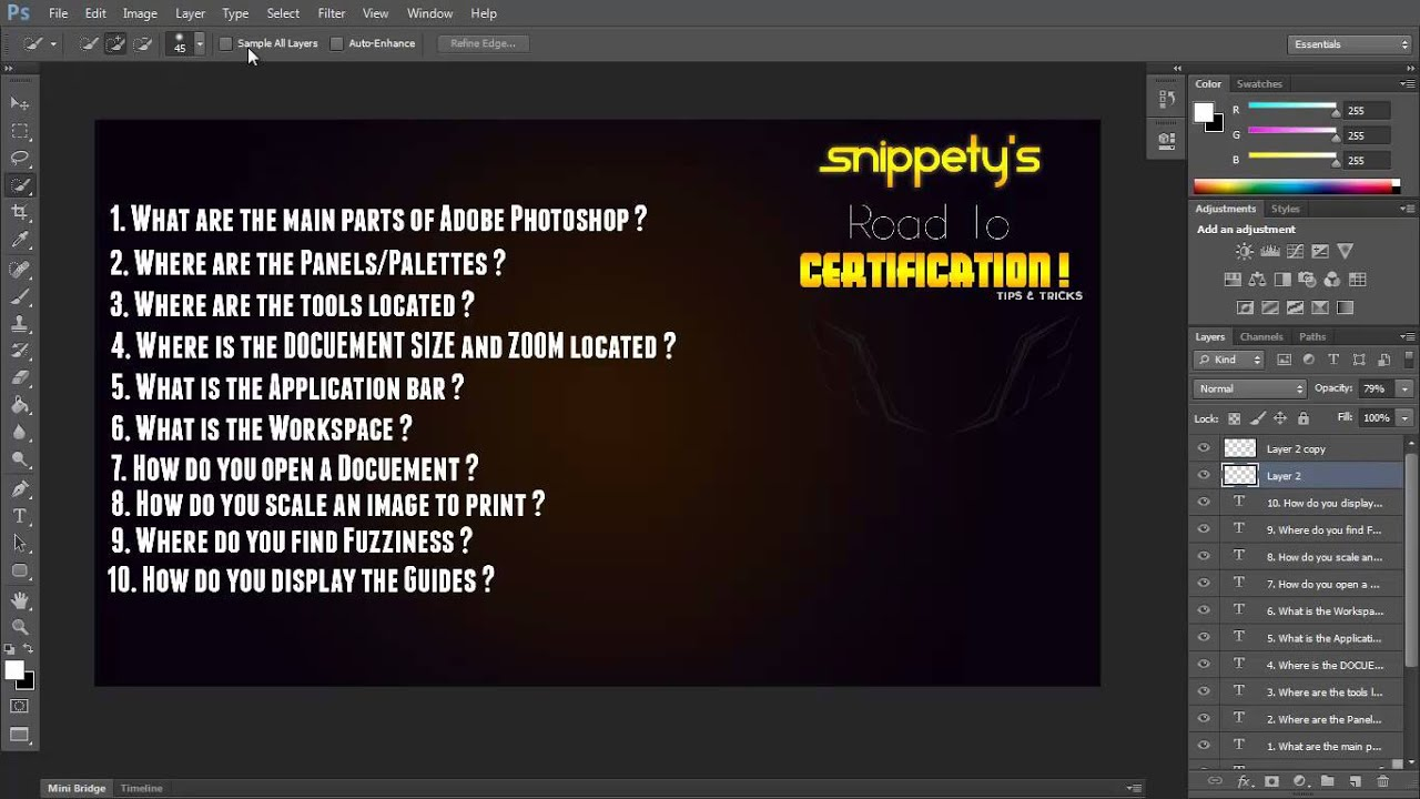 Photoshop Certification First 10 Questions Youtube
