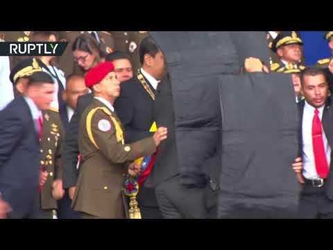 فيديو: لحظة محاولة اغتيال الرئيس الفنزويلي مادورو
