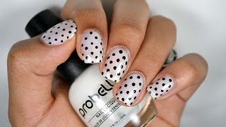 DIY: Classy Polka Dots Nail Art: Using Only A Toothpick!