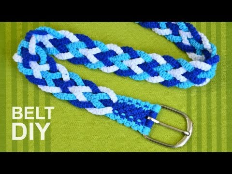 How to Make a Macrame trouser belt or strap for bag, guitar etc.