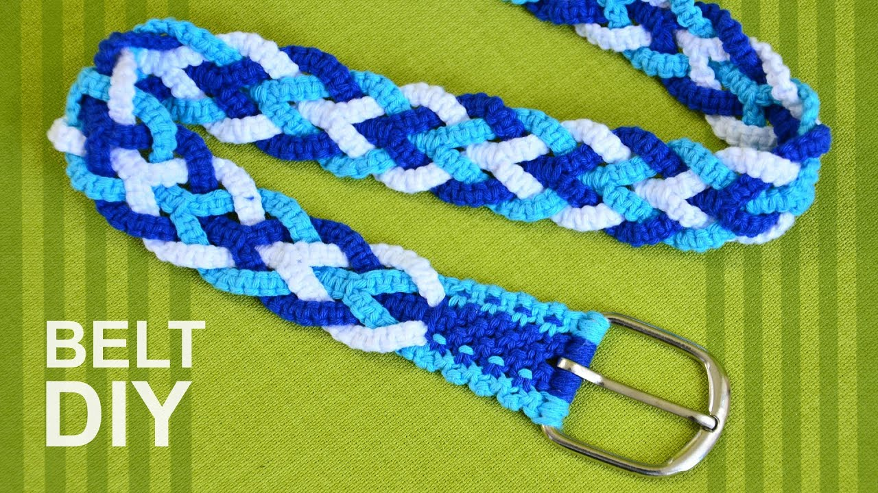 How to Make a Macrame trouser belt or strap for bag, guitar etc ...