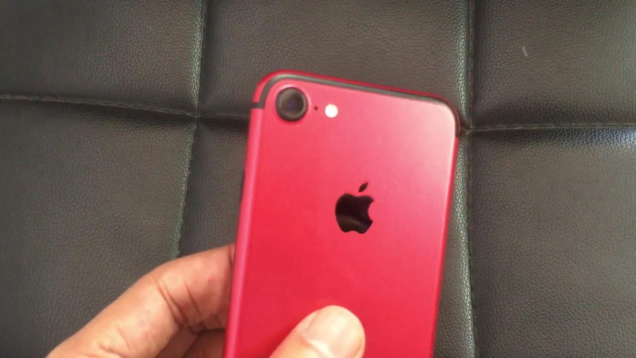 pretty nice 5cd07 3c14e Custom iPhone 7 Product Red Skin