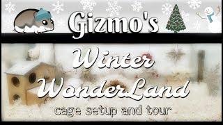Winter Wonderland Hamster Cage Set Up & Tour