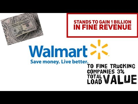 Walmart to fine Trucking Companies 3% for EARLY and LATE deliveries 📦