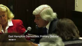 East Hampton Democratic Primary Debate  2017
