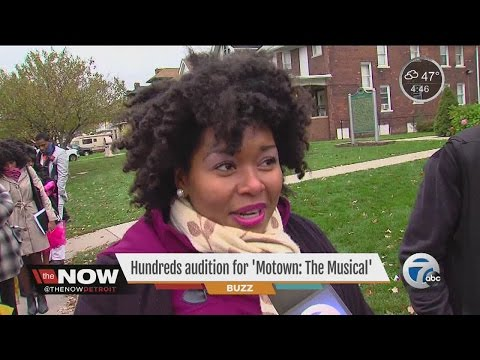 Hundreds audition for 'Motown: The Musical'