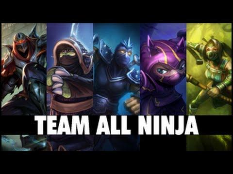 BOSS Comapany Team ALL NINJA League Of Legends Gameplay