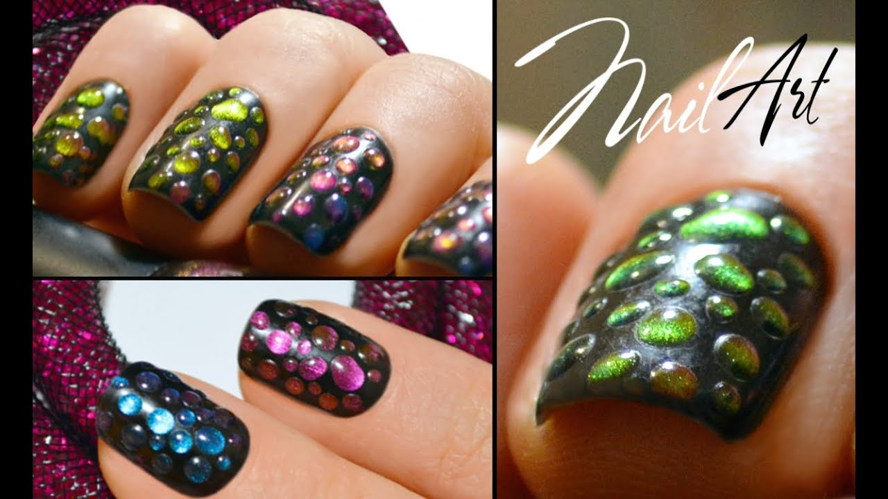 Капли росы дизайн ногтей