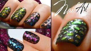 Nail Art Капли Хамелеоны | Совмещаем лак с гель-лаком | MixStyleCappuccino(, 2015-11-24T19:20:08.000Z)