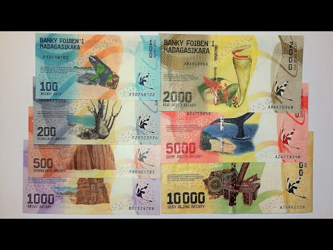 MADAGASCAR 2017 ISSUE BANKNOTES
