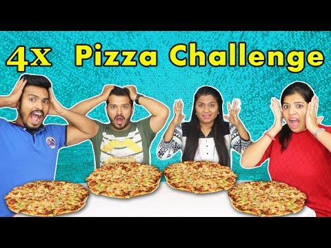 4 PIZZA EATING CHALLENGE | PIZZA EATING COMPETITION | पिजा ईटिंग चैलेंज