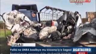 Poliisi ne UNRA basiibye mu kkoona ly'e Sagazi thumbnail