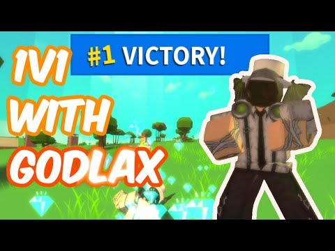 1V1ING GODLAX IN ISLAND ROYALE ROBLOX