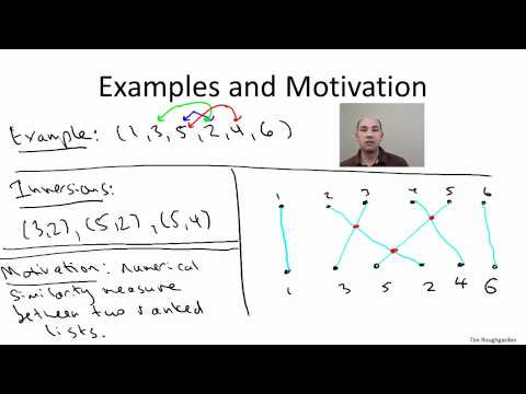 coursera - Design and Analysis of Algorithms I - 3.1 O(n log n) Algorithm for Counting Inversions I
